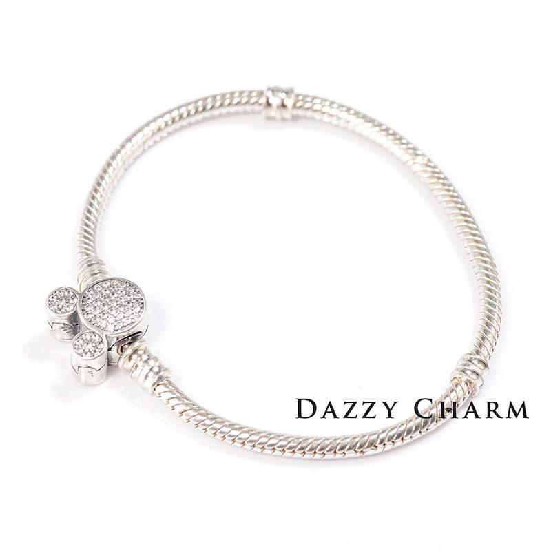 Vòng Dazzy Charm Pandora mềm khóa chuột Mickey