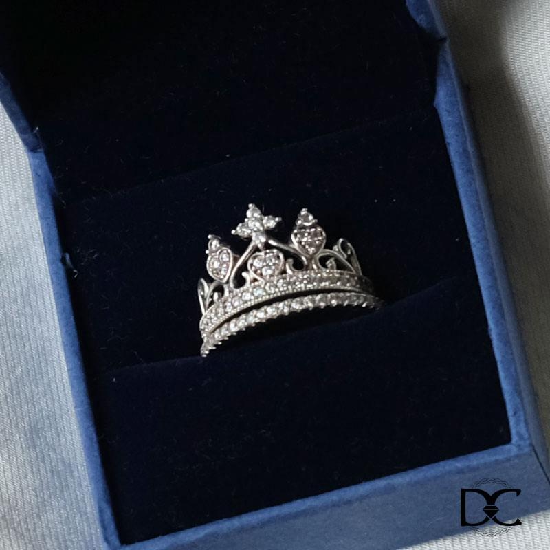 Nhẫn bạc DazzyCharm vương miện nữ hoàng