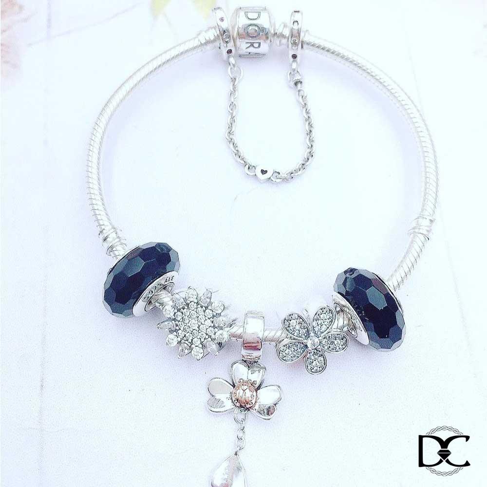 trang sức bạc DazzyCharm Pandora cho người mệnh Thủy
